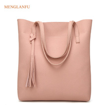 Women's Casual Handbags Fashion High Quality Female Large Leather PU Bags Designer Tassel Shoulder Bag Ladies Tote Bag