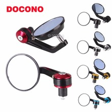 DOCONO MOTO 7/8″ 22mm Motorcycle Side Mirror Handle Bar End Rear View Mirror Sport Bike Mirror Parts Rearview For Honda Yamaha