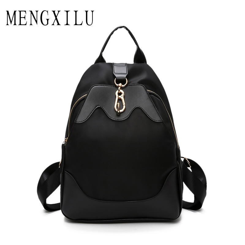 MENGXILU Casual High Quality Backpack Women Travel Backpack 2018 Large Capacity Backpacks Fashion Solid Women Bag Sac A Dos New mengxilu high quality composite bag