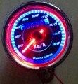 Новый универсальный двойной из светодиодов свет пробега спидометр км / ч для мотоциклов
