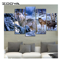 ZOOYA 5D Diy Diamond Painting Crystal Cross Stitch Home Decorative 3D Full Square Diamond Embroidery 5PC