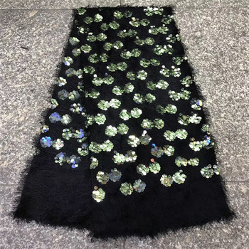 nice looking sequins net african embroidered tull lace fabric JRB-12099 for fashion dress