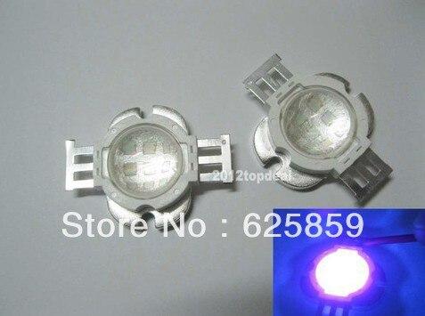 10 Вт ультрафиолет Светодиодный УФ светодиодный с 60 градусов объектив 390-405nm 10-12 V 1000mA