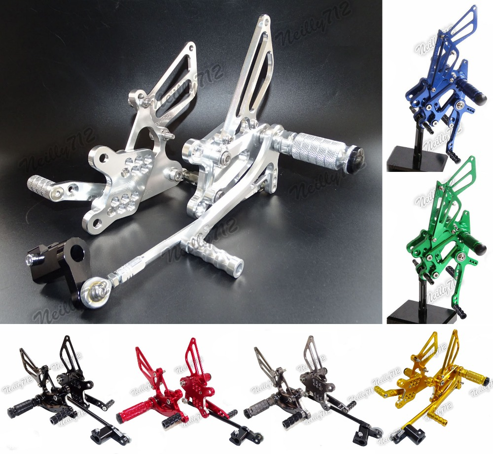 Moto cnc aluminium adjustable rider rear sets rearset footrest foot rest pegs for honda cbr929rr cbr