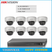 English Version DS-2CD2132F-I H.265 3MP IP WEB IR Dome Camera 1080P POE With 8CH NVR Recording 8 POE 2 SATA Video Recorder