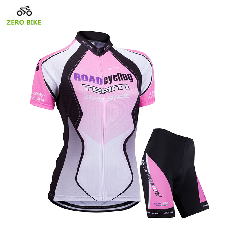 ZEROBIKE Womens Bicycle Quick Dry Breathable Jersey Shorts Gel Padded Sports Cycling Clothing Pink Ciclismo US Size S-XLZEROBIKE Womens Bicycle Quick Dry Breathable Jersey Shorts Gel Padded Sports Cycling Clothing Pink Ciclismo US Size S-XL