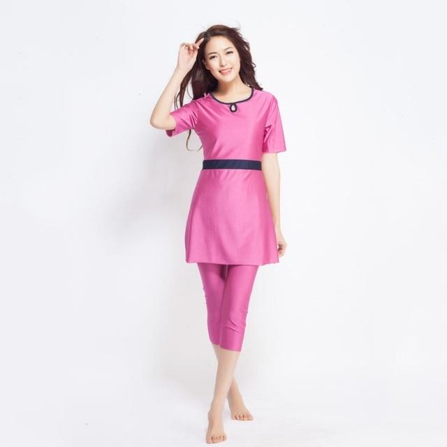 e5140e111d Women East Women Muslim Islamic Swimming Suit Modest Short Sleeve Tops+Pant  Swimwear Swimsuit. 1 order