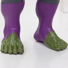 30cm the Avengers 4 Endgame Super Hero Series Hulk Captain Marvel Carol Danvers Action Figure model Toys Children Birthday Gifts