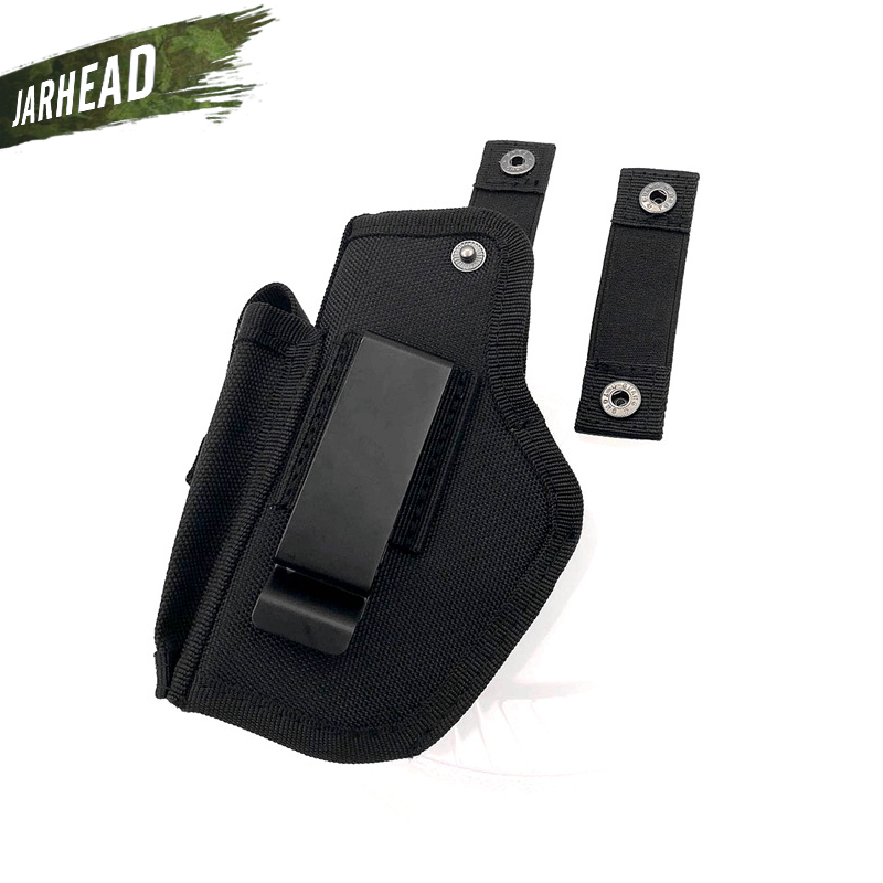 US $11 34 55% OFF Gun Holster Concealed Carry Holsters Belt Metal Clip IWB  OWB Holster Airsoft Gun Bag Hunting Articles For All Sizes Handguns-in