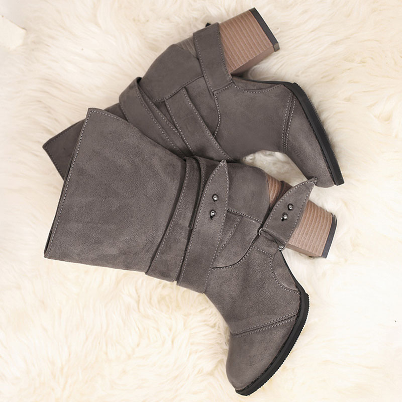 Fashion New Womens Boots Casual Platform Pumps Autumn Winter High Heels Shoes Lady Big Size 40 41 42 43 wo180816 in Knee High Boots from Shoes