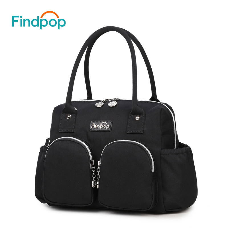 Findpop Black Women Handbags 2017 New Fashion Canvas Waterproof Handbags Messenger Bags Top-Handle Bags Large Capacity Handbags 2016 new fashion women handbag colourful striped canvas and leather bags women messenger bags large capacity bat wing handbags