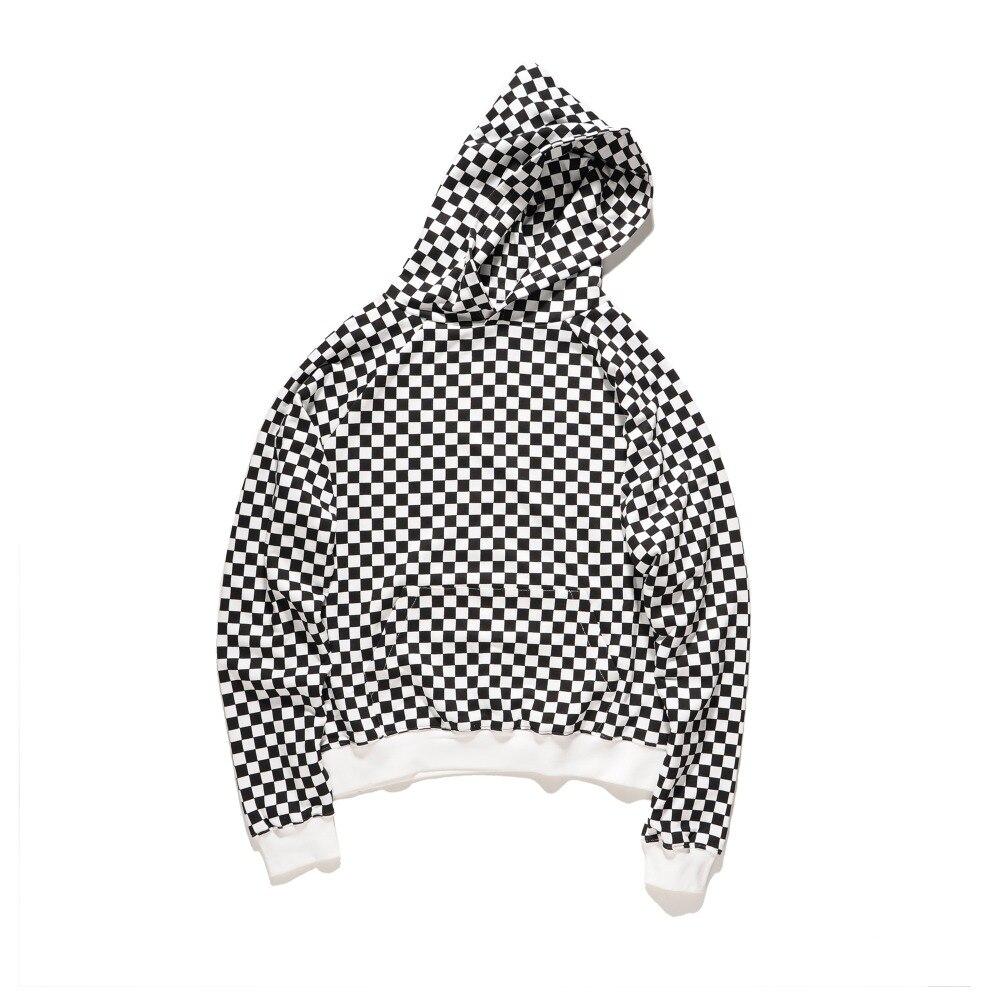 Youthcodes Fog Streetwear Plaid Hoodie Men Justin Bieber Fashion New
