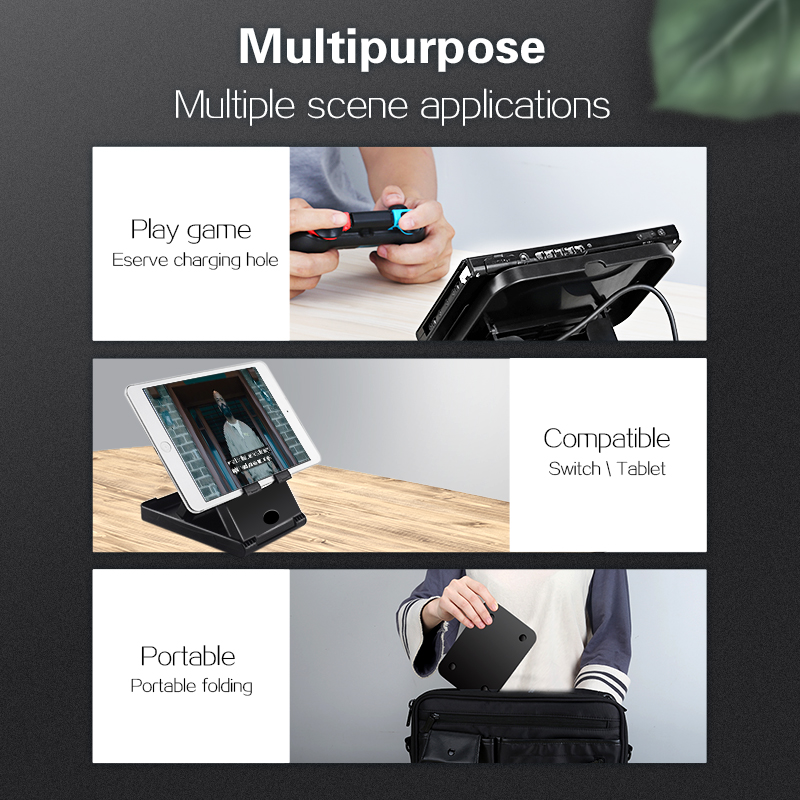 Image 3 - Data Frog Portable Desktop Stand Holder For Nintend Switch Mobile Phone Tablet Adjustable Fold Base Bracket for Nintendo Switch-in Stands from Consumer Electronics