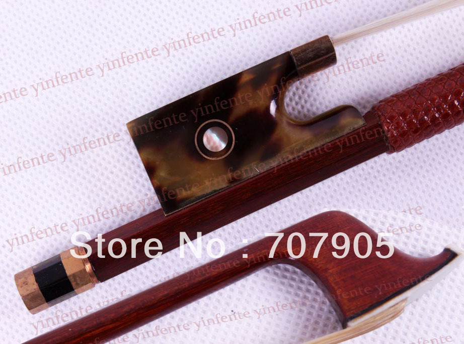 1x New 4/4 Violin Bow get quality Rare Frog Silver Color Bow string 2x violin bow balance brazil wood silver color bow string snail ox horn frog 4 4