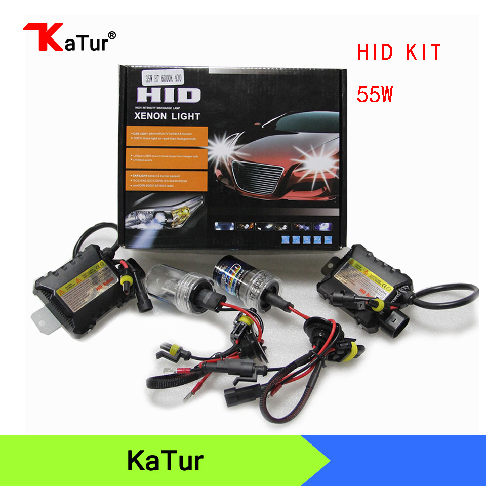 1 Pair CANBUS HID Xenon Kits Car Headlight Slim Ballast  Xenon Bulb Ballast Conversion H1 H3 H7 H8/H9/H11 880/881 9005 9006 buildreamen2 55w 9005 9006 h1 h3 h7 h8 h9 h11 880 881 hid xenon kit ac ballast bulb 10000k blue car headlight lamp fog light