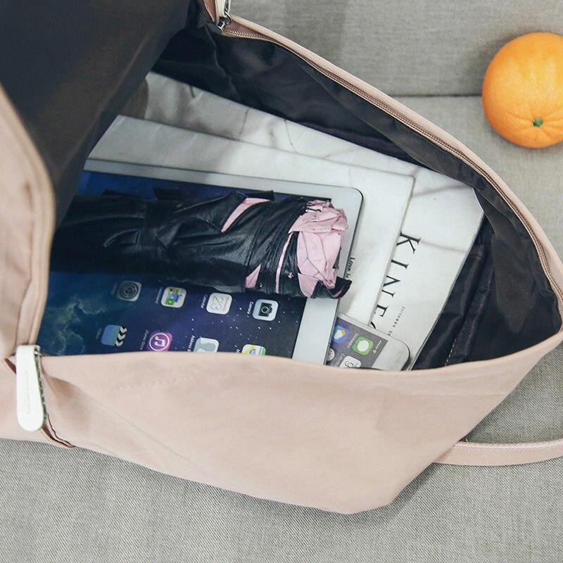 Women Canvas Backpacks Candy Color Waterproof  School Bags For Teenagers Girls Big Laptop Backpack Patchwork Kanken Backpack New #5