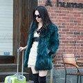 2016 повелительницы Мех Енота жилет женщин натуральный мех и кожа зимнее пальто девушки теплая верхняя одежда Меховой Жилет пальто