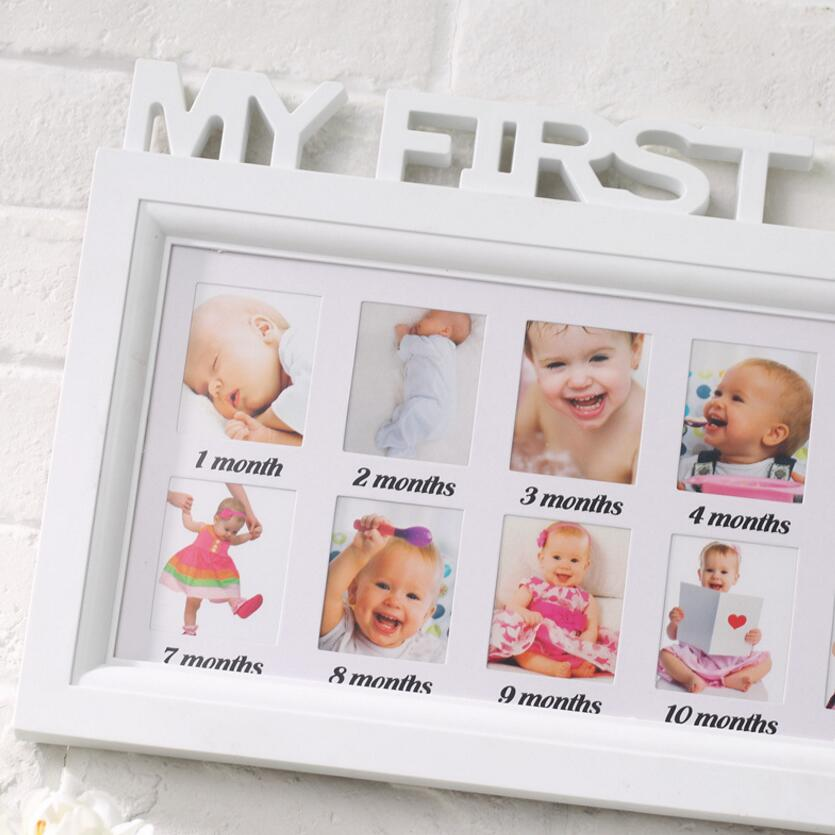 Baby memorial photo frame letter piece conjoined children 12 months ...