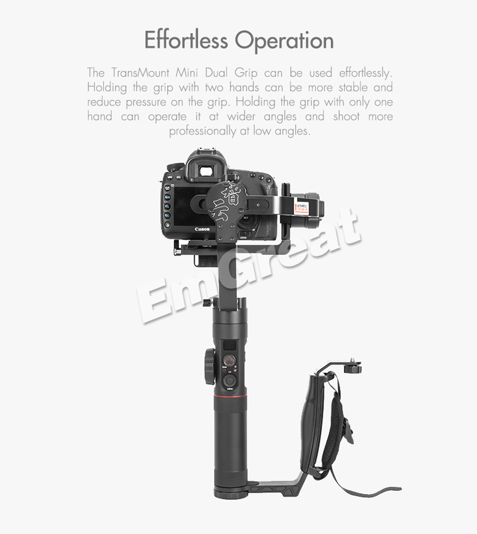 Zhiyun Crane 2 Gimbal Accessories L Bracket TransMount Mini Dual Grip for LED Light /Microphone / Monitor Similar as Dual Handle 2
