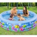 185 cm * 50 cm ronda 3 anular los niños piscina inflable piscina del bebé niños de la familia inflable piscina cubierta piscina