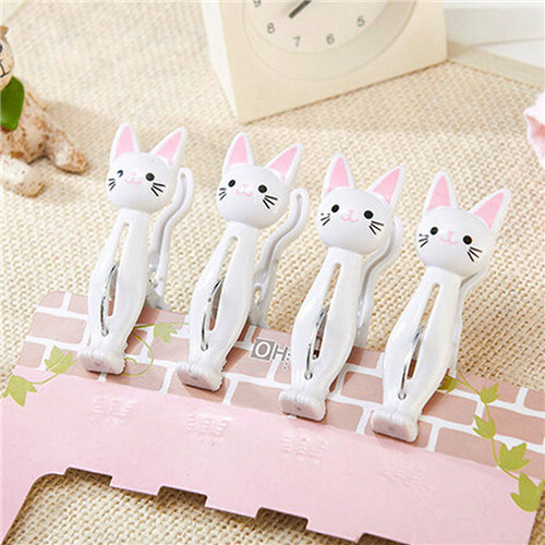 4pcs Cat Cartoon Clip Laundry Photo Holder Bag Clips Strong Clothes-pin Shape Receive A Clip Socks Hanging Pegs Clamps