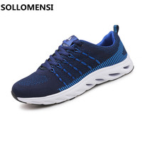 2017 Simple Sport Style Outdoor Men Sneakers Summer Breathable Air Mesh Running Shoes Low Heigh Slip