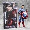 6 15 5cm Crazy Toys Civil War Superhero The Avengers Captain America PVC Action Figure Collection