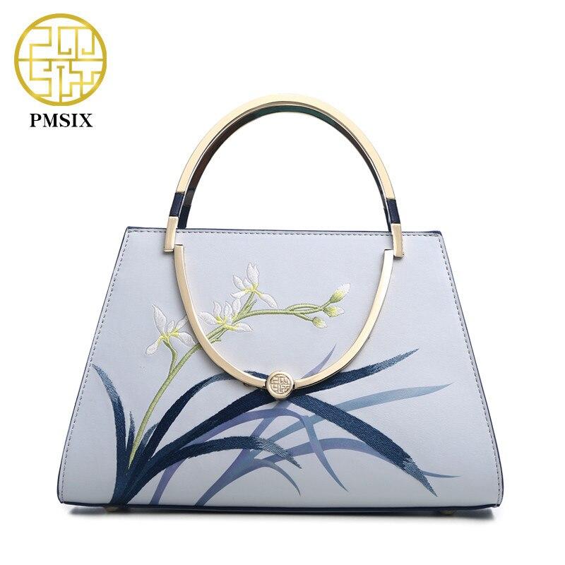 Pmsix Марка 2018 Мода Разделение кожа Для женщин сумка дамская сумка Роскошные Дизайнерские высокие Ёмкость