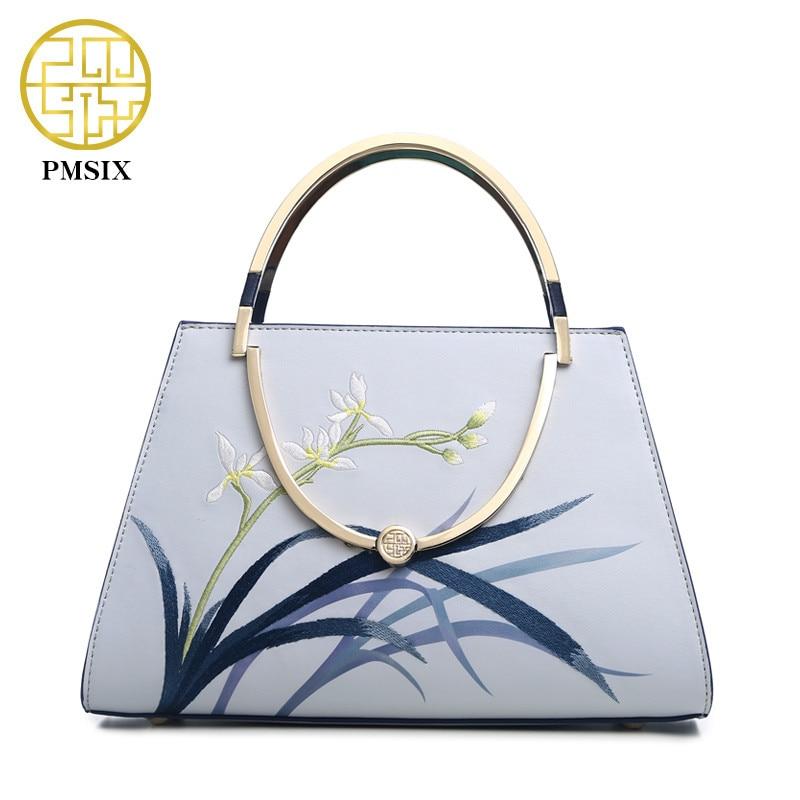 Pmsix 브랜드 2019 패션 분할 가죽 여성 가방 여성 핸드백 어깨 숙녀의 메신저 가방 Luxury Designer High Capacity