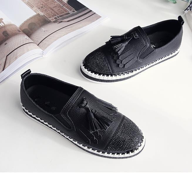 Chaussures Dames Glisser Femmes Noir Marque Mocassins Design Mélange blanc Les Couleur Espadrilles Paillettes Creepers Sur Célèbre 2018 FzxnpwO