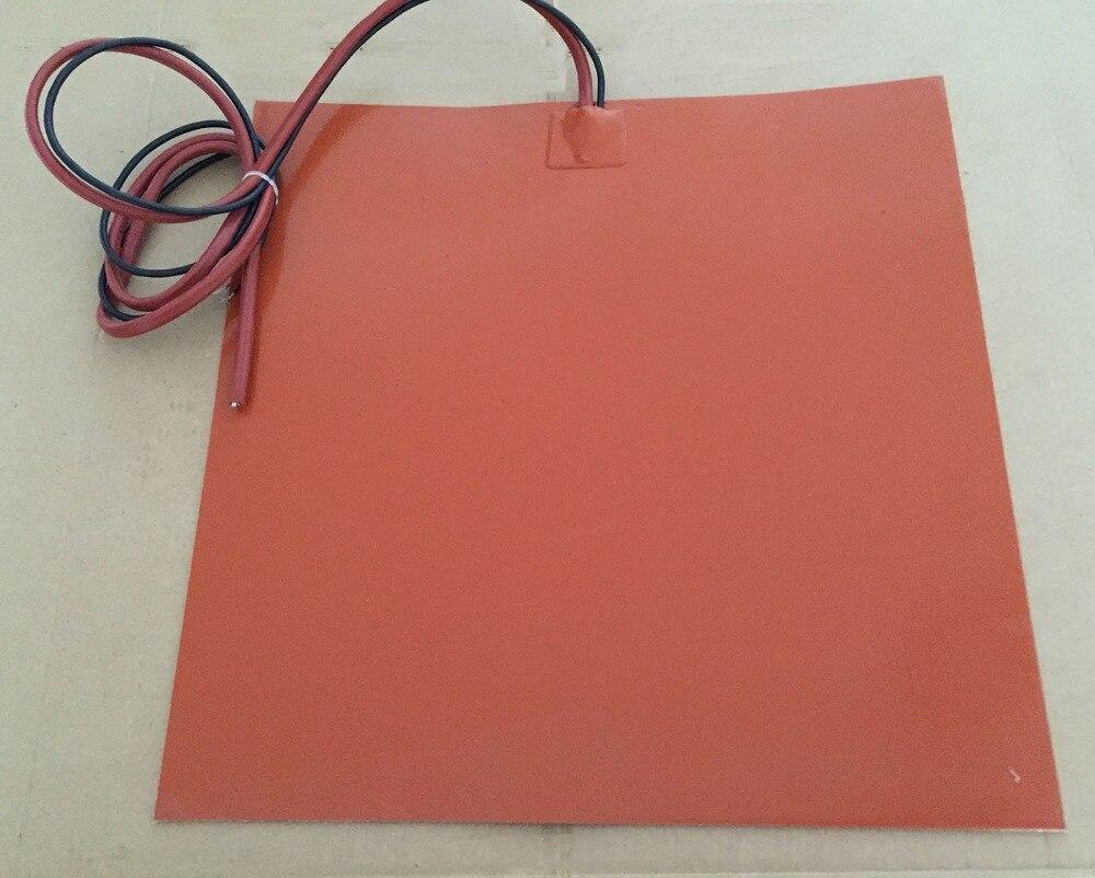 458x368 мм 24v 360 w/NTC 100K Термистор силиконовый Нагреватель Pad 3M клей Масляный Нагреватель гибкий Подогрев электрический 3D принтер