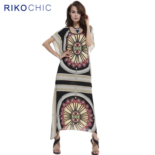 f2c60884af9 2017 Summer Casual Bohemian Maxi Dresses Nepal Ethnic Print Batwing Sleeve Beach  Wear Long Boho Women Dress C005