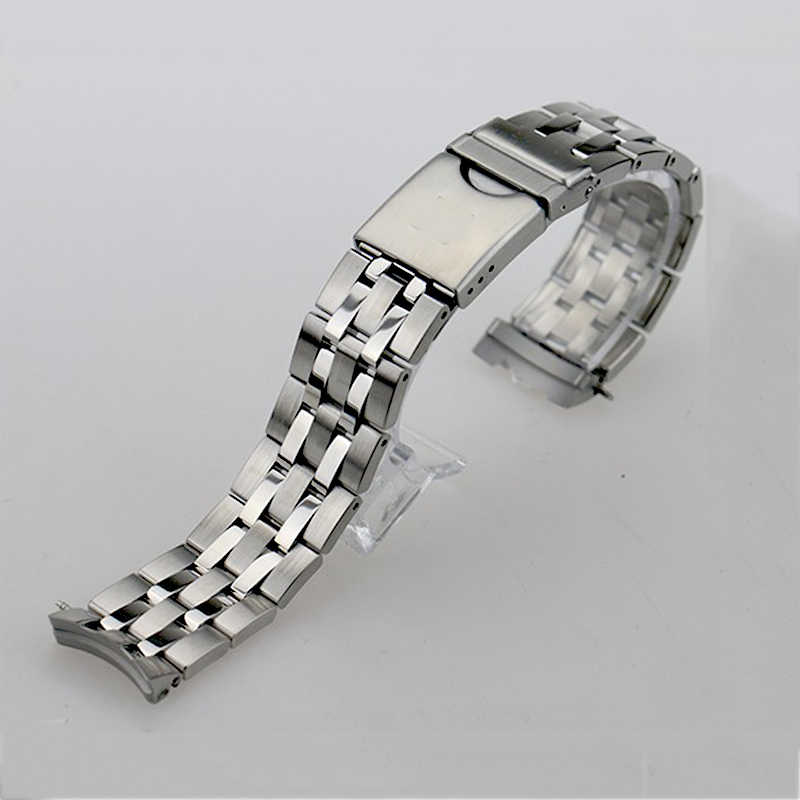 ISUNZUN najwyższej jakości zegarek pasek dla Tissot T055 paski do zegarków ze stali nierdzewnej dla PRC200 T055.417 T055.410 T055.430 pasek do zegarka