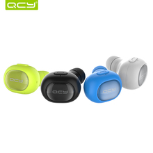 QCY Q26 Bluetooth 4.1 Wireless Earphones Mini Car Calling English Voice Headset Handsfree Earbuds with Mic for iPhone Xiaomi