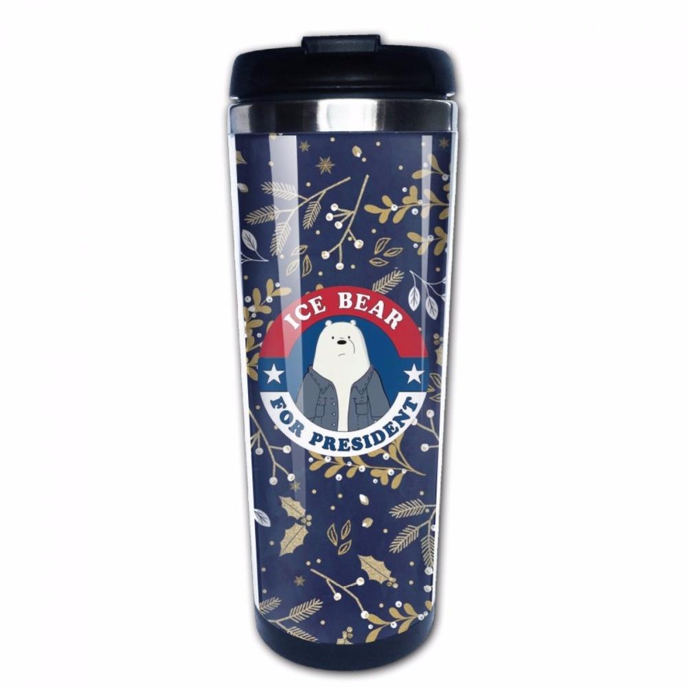 We Bare Bears Stainless Steel Photo Travel Mug Custom Coffee Mug Perfect Gift