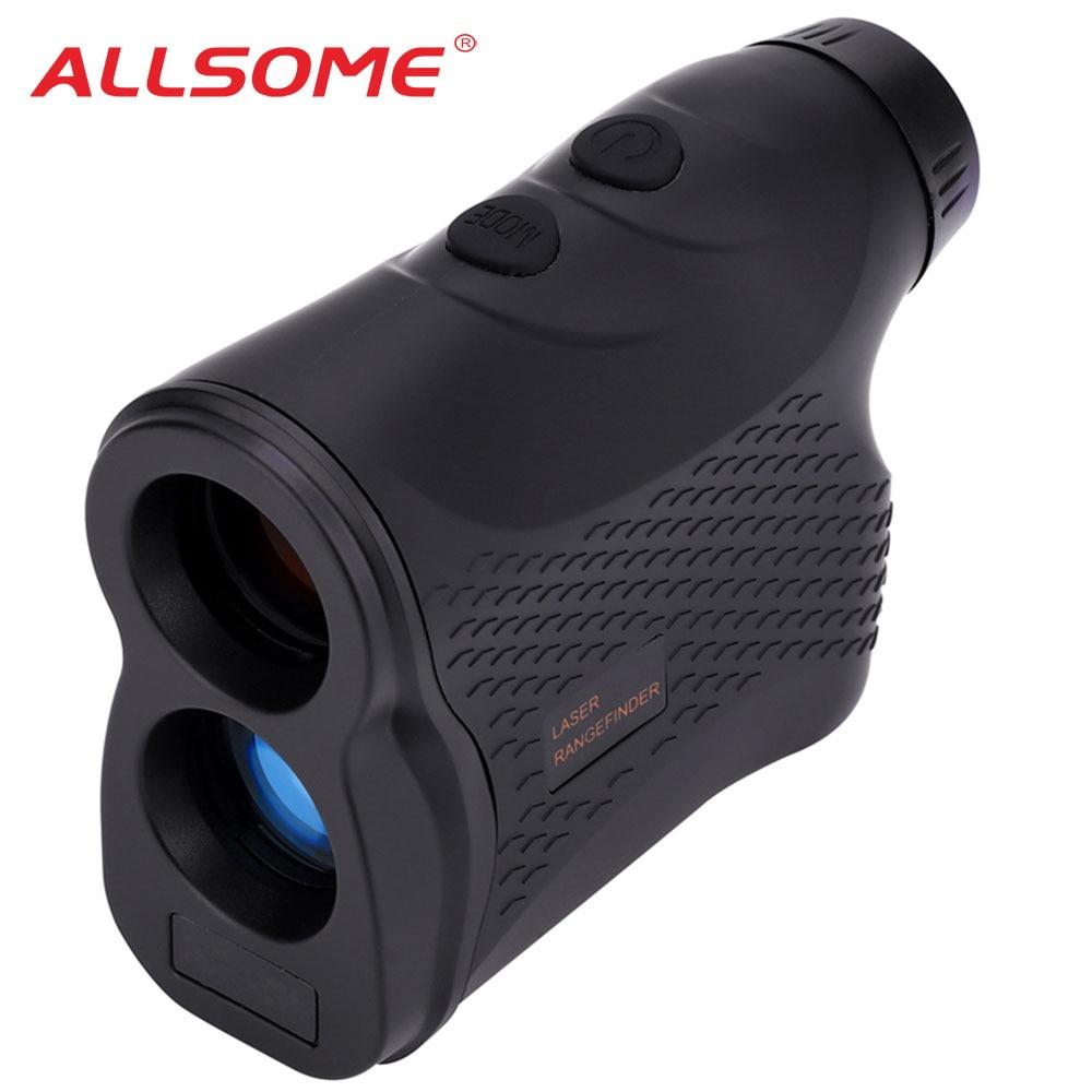 ALLSOME 600M 900M 1200M 1 Digital Laser Rangefinder Handheld Monocular Golf Hunting Range Finder Speed Angle Height Measurement