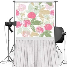 MEHOFOTO Flower Wall New Fabric Flannel Photography Background For Wedding Vinyl Backdrop For Children photo studio F1216 цена