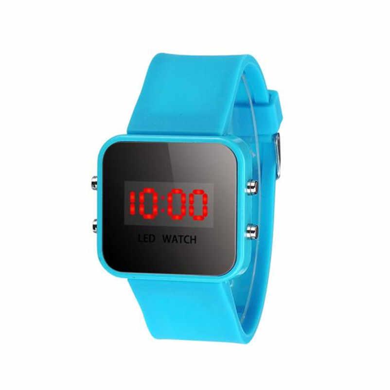יוניסקס ילדים סטודנטים בני בנות גומי אדום LED שעון תאריך זמן לרוץ ספורט צמיד דיגיטלי יד מפעל מחיר שעונים Reloj