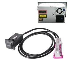Gorący nowy 1 Pc Auto samochód aux-in RNS-E nawigacji przycisk Aux Adapter Audio zestaw 32Pin wtyczka dla Audi A3 A4 A6 A8 R8 TT wysokiej jakości