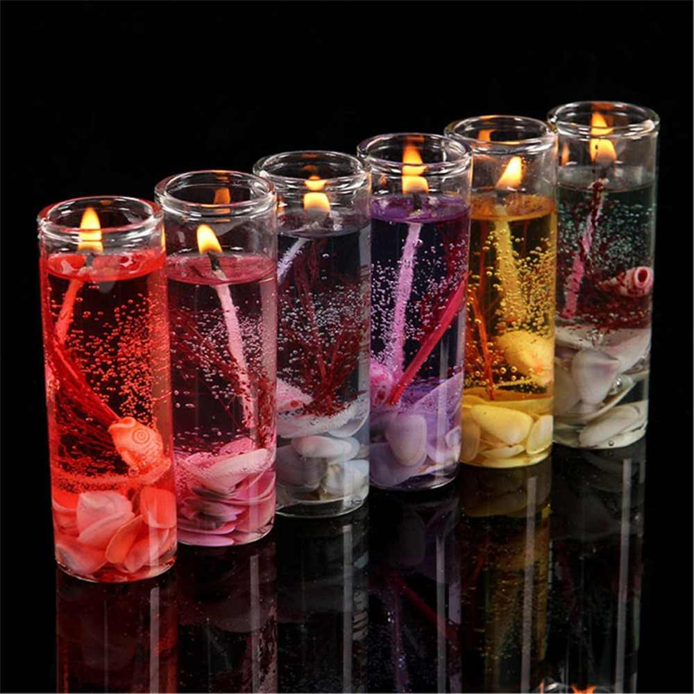 Colorful jelly wax decorative candle candles for wedding sparkling birthday wax candle sparklers bougie anniversaire