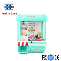 Mini Candy Claw Machine Toys indoor Arcade Game and Prizes for Boys and Girls with Music Sounds Coin Dolls