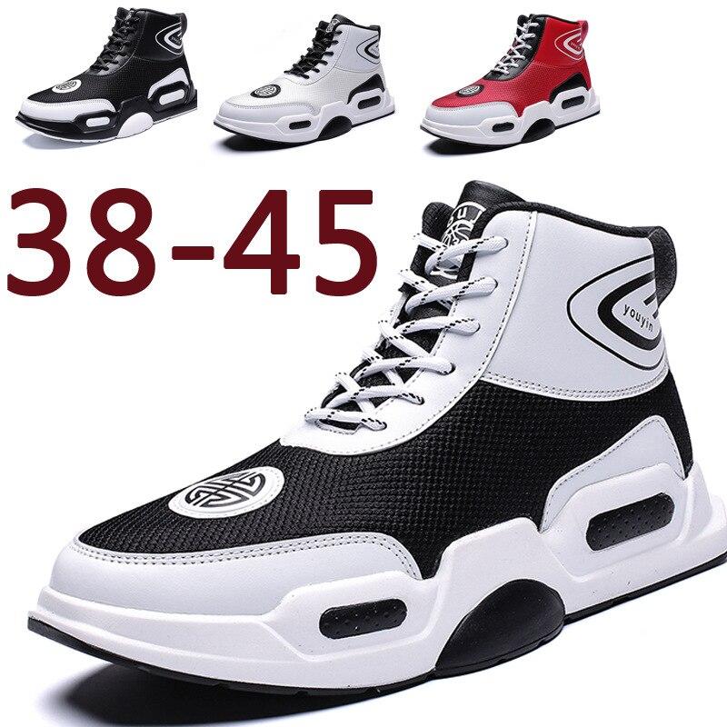 Dos Grande Alta Backcamel2019 red Sapatos Microfibra Ajudar resistantsize38 Brancos Wear Cinto Respirável white Couro 45 Para Tamanho Black A Primavera Novo Homens De fqtrwtnIzx