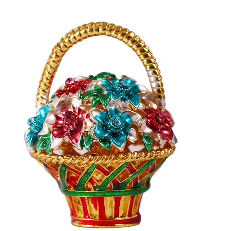 Home Decor Unique Jewelry Hand Crafted Gifts Candles In: 2*1.5 Inch Colorful FlowersTrinket Box With DIY Crystal