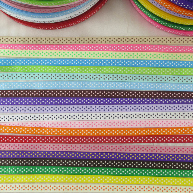 "David accessories 3/8""9mm dot printed polyester grosgrain tape ribbon 5yds,DIY handmade materials,wedding gift wrap,5Y14746"