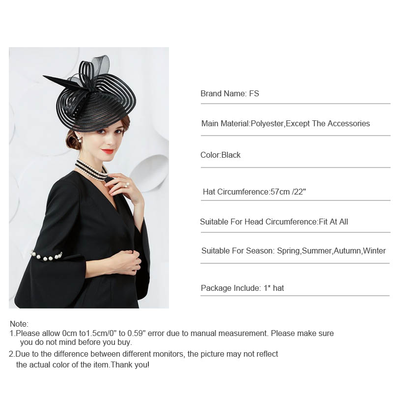 20390076 Fascinators Black Wedding Hats For Woman Cocktail Party Feather Kentucky  Derby Pillbox Hat Chapeau Femme Sombrero Mujer Boda-in Fedoras from Women's  ...
