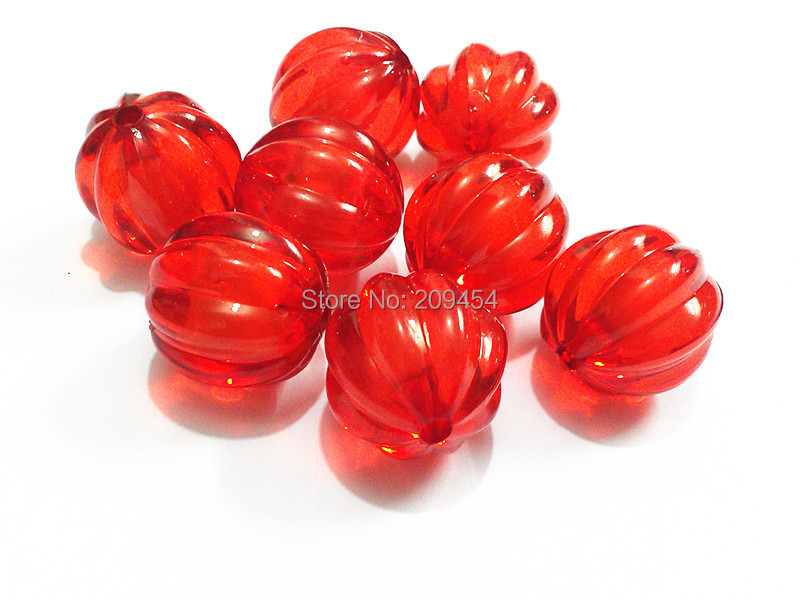 Choose Size First 12mm 16mm 20mm Red Chunky Acrylic Watermelon Beads In Beads
