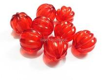 (Elija el Tamaño Primero) 12mm/16mm/20mm Chunky Acrílico Rojo Sandía En Cuentas