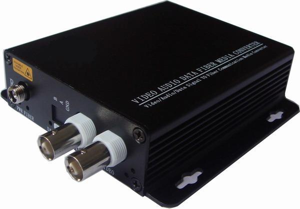 HD video AHD Fiber optical converter, 2ch hd 720P video fiber optic transmitter, single mode single fiber 20KM, FC fiber port