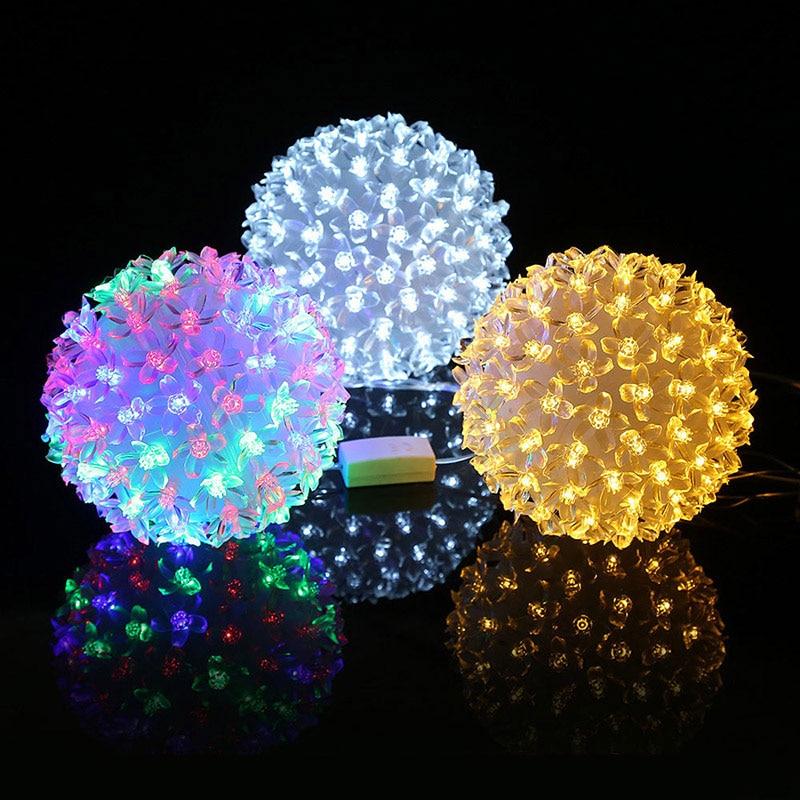 Plum Flower Indoor Courtyard Party Garden Decor Light LED Lamp Festival Illuminative Lights String WWO66