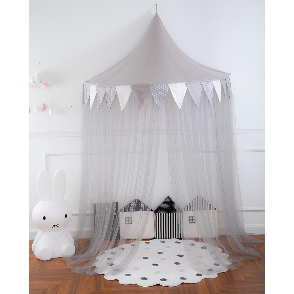Simple bébé berceau filet moustiquaire suspendu rond bébé enfants dentelle quatre coin baldaquin lit moustiquaire pour enfants filles chambre